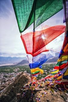 Prayer flag in leh - capital