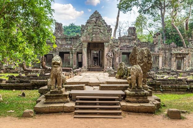 Preah khan temple in angkor wat in siem reap, cambodia