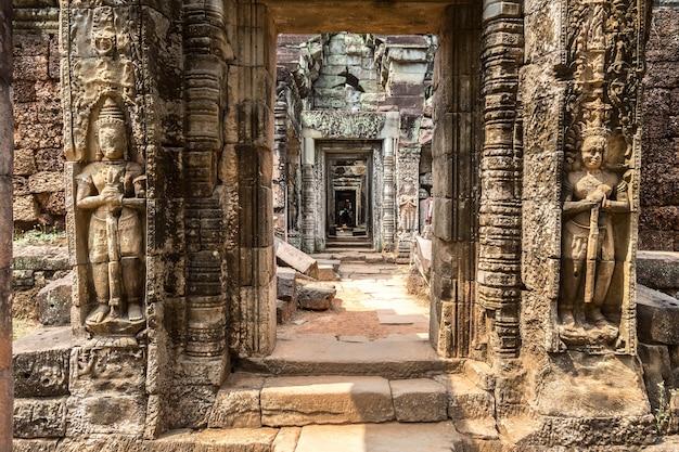 Храм преа хан в ангкор-ват в сием рип, камбоджа
