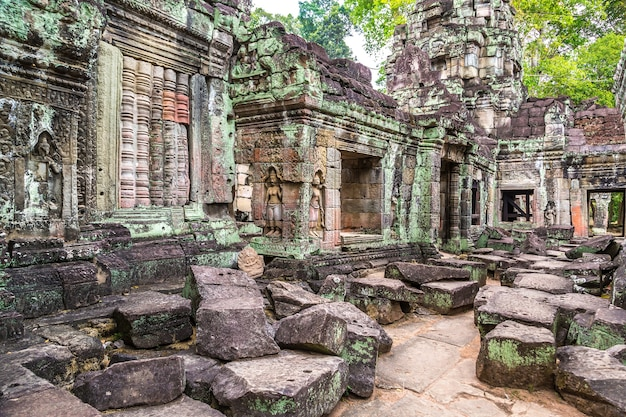 캄보디아 씨엠립 앙코르와트의 프레아 칸 사원