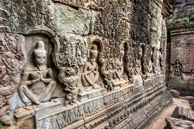 Храм преа хан в ангкор-ват в сием рипе