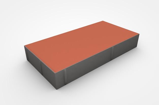 흰색 배경 3d 그림에 조립식 콘크리트 포장 기계