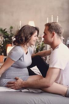妊娠中のカップル