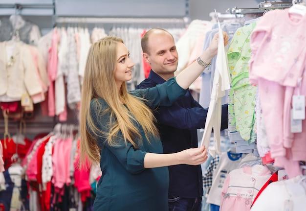 아기 쇼핑 남편과 임신.