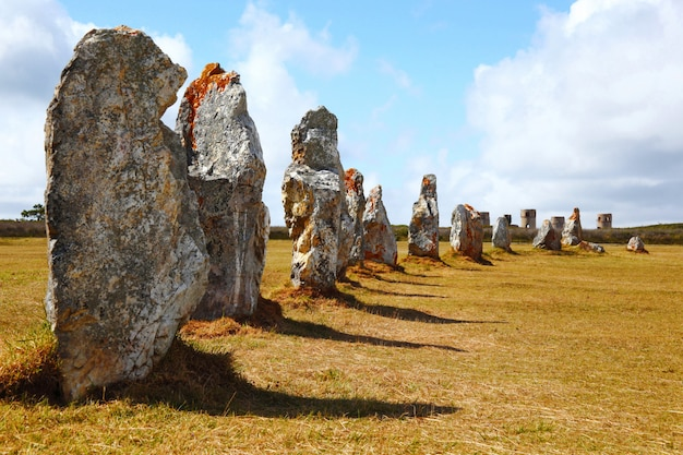 Prehistoric menhirs in french territory