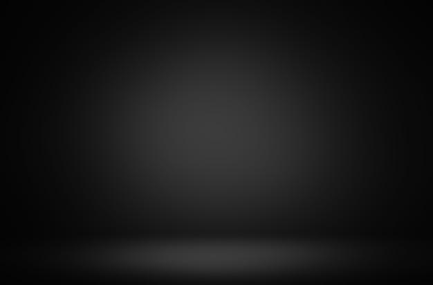 プレミアム抽象的な黒のグラデーション表示豪華な背景