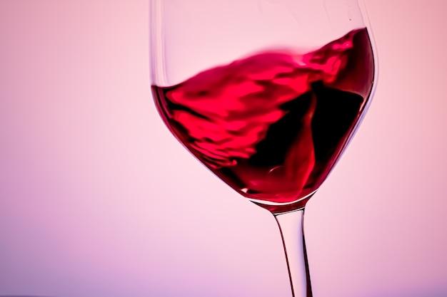 Premium red wine in crystal glass alcohol drink and luxury aperitif oenology and viticulture product
