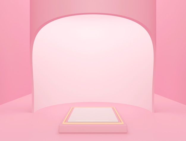 Premium scene for product display, pink abstract background