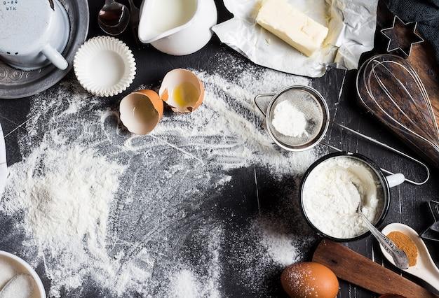 요리 용 주방 재료 제빵 준비