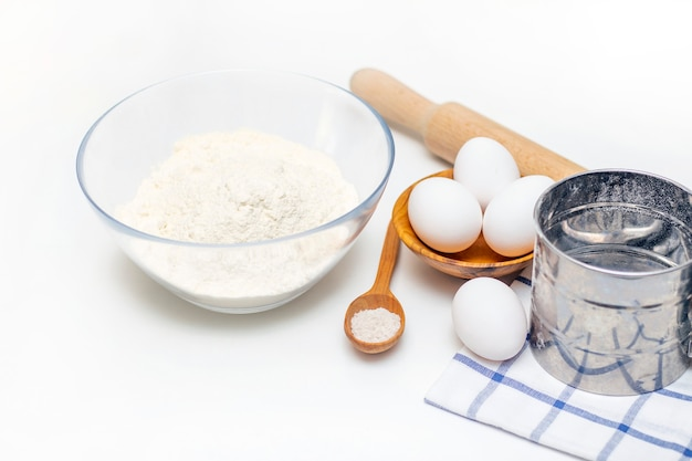 Preparation of dough for home pancakes for breakfast