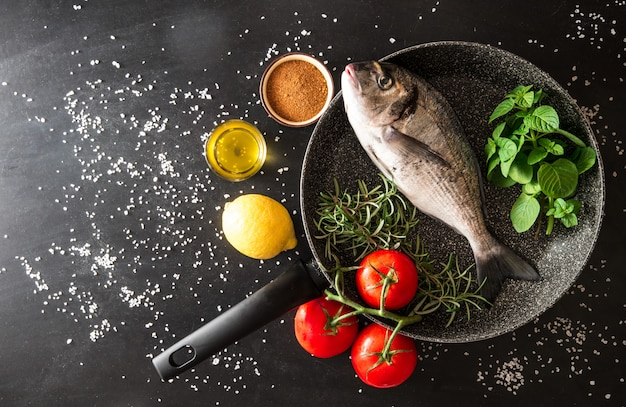 Preparation of a grilled fish