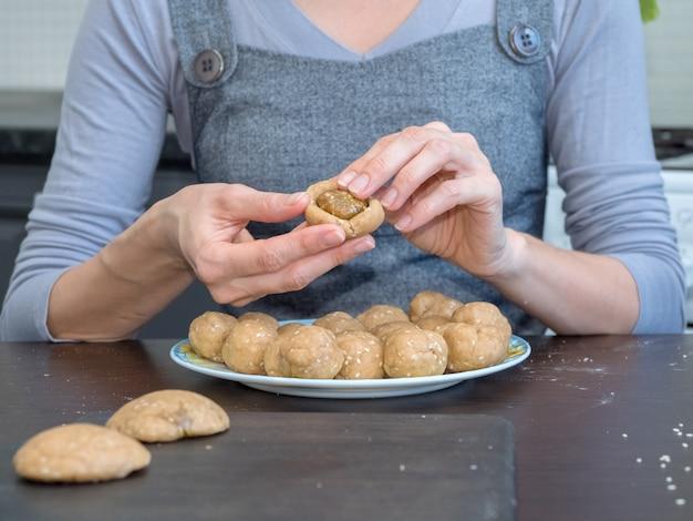 エジプトのクッキーの準備