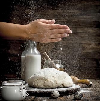 新鮮な食材から生地を作る。