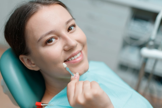 Preparation for teeth whitening in dental office