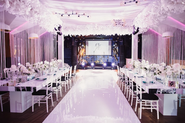 Prepared wedding hall
