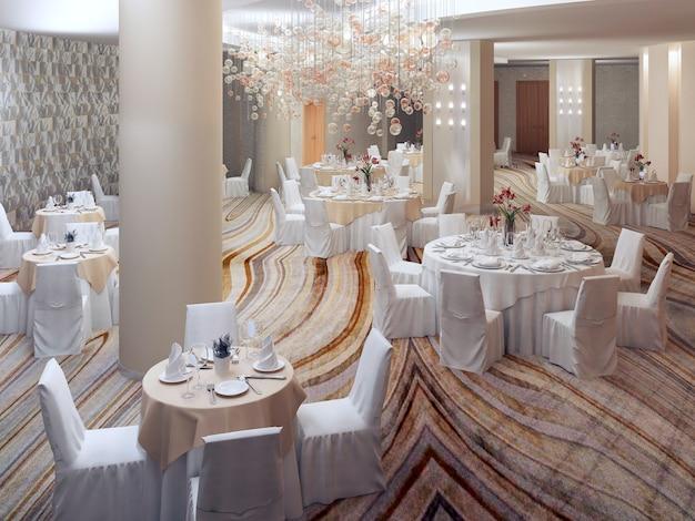 Preparing for elegant banquet