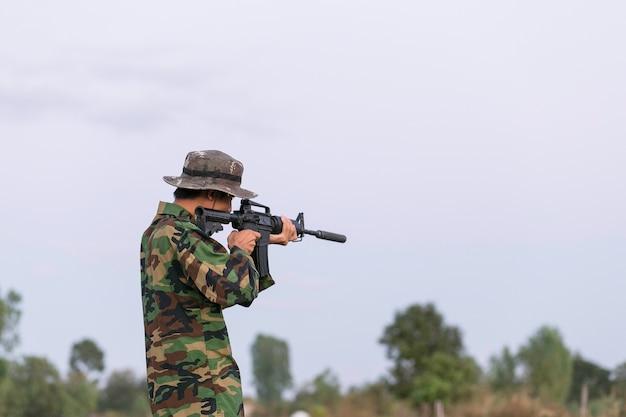 In preparing the military posture