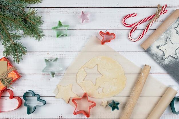 콕킹 크리스마스 전통 진저 브레드 비스킷, 플랫 레이 준비