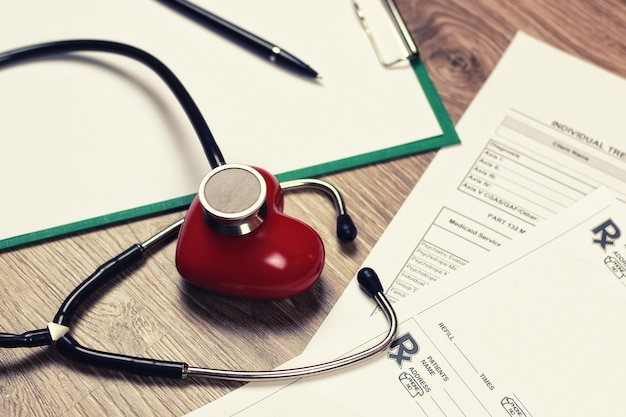 Prescription cardiologist stethoscope