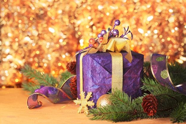 メリークリスマスと新年あけましておめでとうございますのプレゼントアンデコレーション