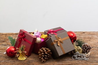 Present box with color ribbon on white background for christmas birthday special occassion