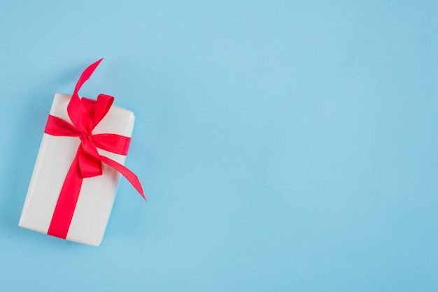 Present with red ribbon