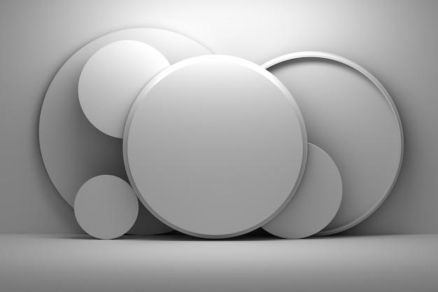 円形の幾何学的形状のプレゼンテーションモックアップ