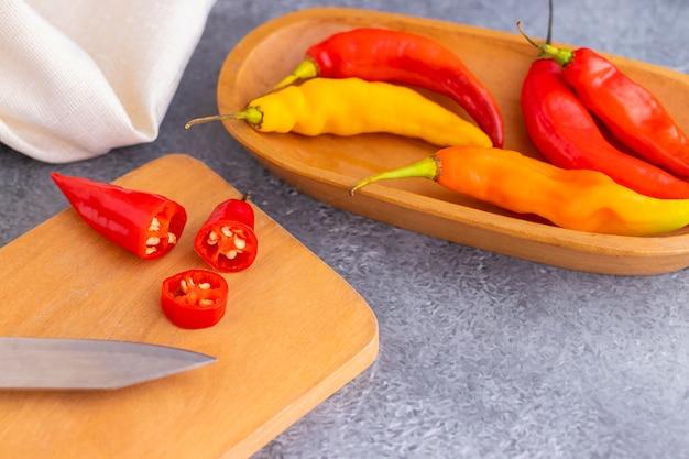 Presentation of peruvian hot red chili