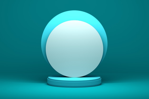 Presentation shapes with round circular surfaces on a pedestal