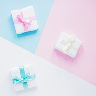 Presents on colorful background