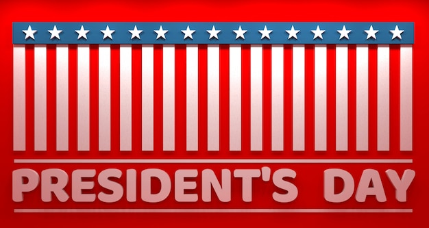 President's day banner, usa
