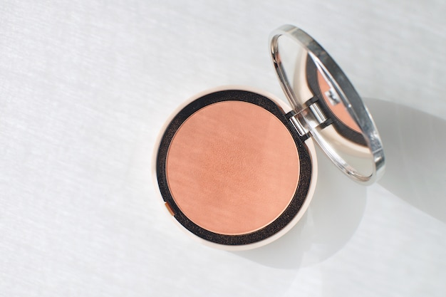 Pressed powder blush make up beauty concept