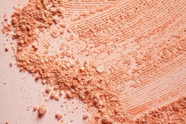 Pressed powder or blusher beige brown gentle textured background
