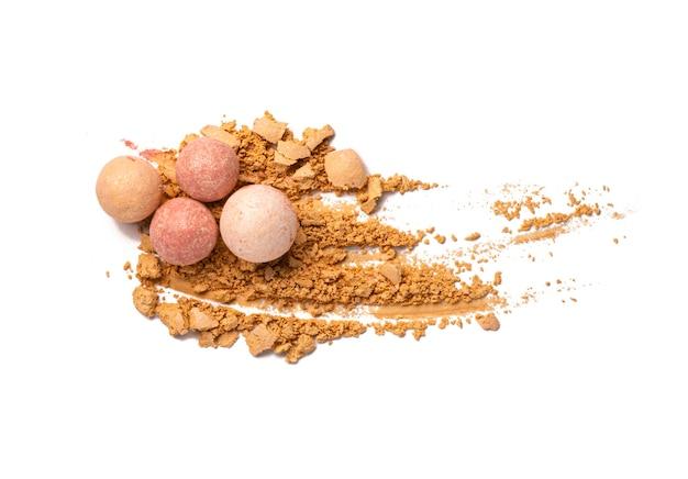 Pressed powder or blusher pearls gentle textured background