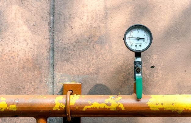 Pressure meter of gas with soft-focus and over light in the background