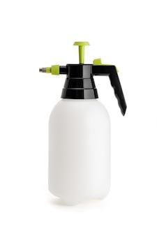 白い背景で隔離の圧力スプレーボトル。