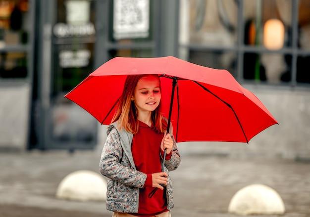 Preteen girl autumn portrait