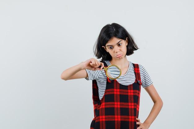 Preteen girl in t-shirt