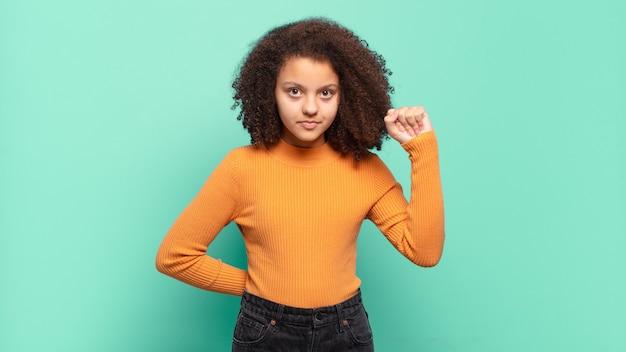 Pretty afro little girl