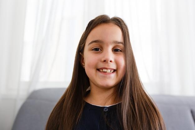 Pretty blogger. small girl child.