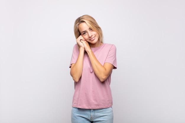 Pretty blonde woman cute pose