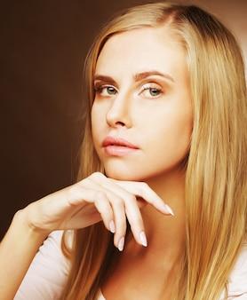 Pretty blonde woman