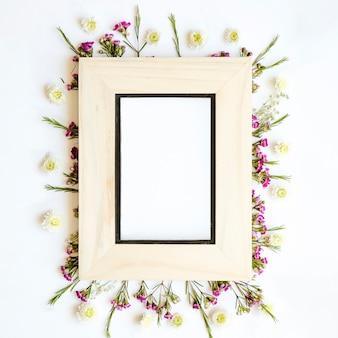 Pretty frame on wild flowers