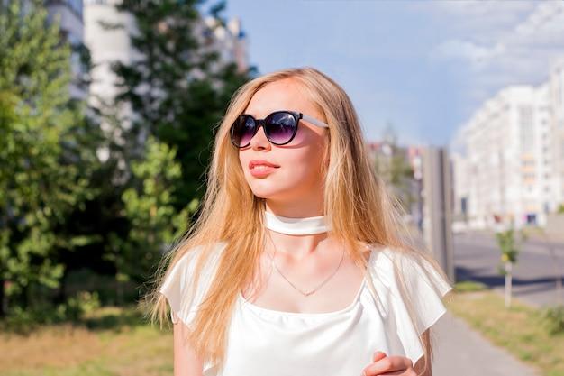 Pretty girl enjoying sunny day