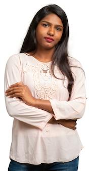 Pretty indian woman closeup