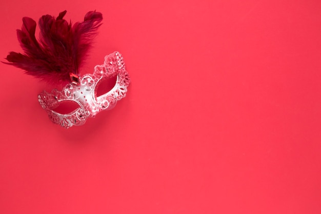 Pretty mask on red