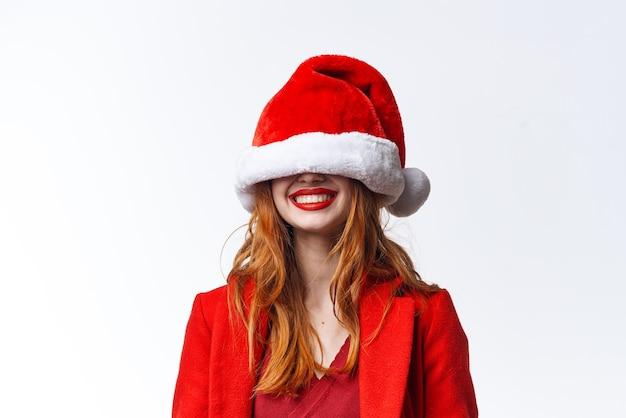 きれいな女性のクリスマスコスチュームファッショングラマーフェーズ