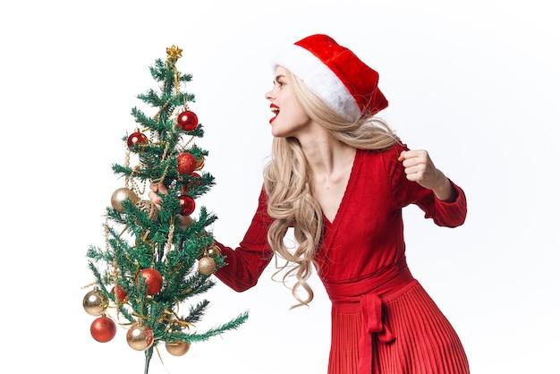 きれいな女性のクリスマス休暇の装飾おもちゃ