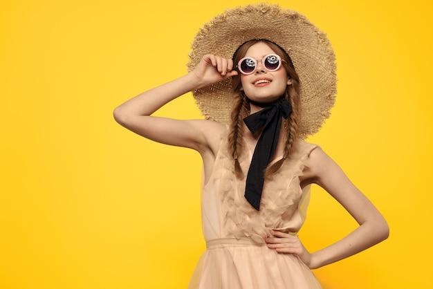 きれいな女性の魅力的なメガネファッションエレガントなスタイル