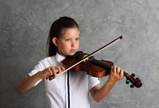 예쁜 여자 바이올린 연주